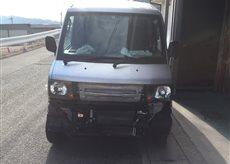 京都市内 事業者様の日産クリッパーの前面修理